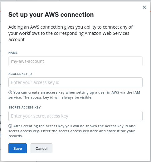 Setup your AWS connection