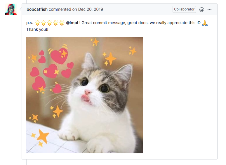 Contributor encouragement … and kittens!