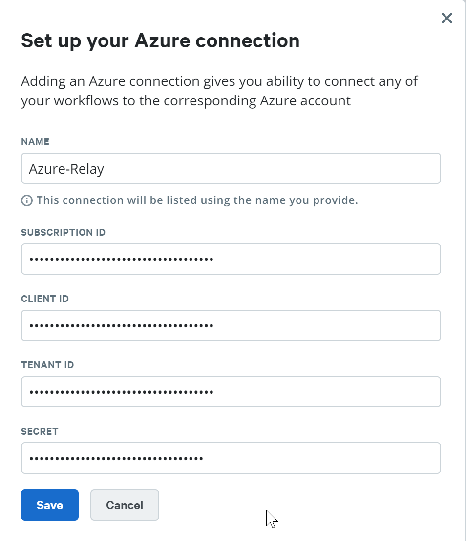 Set up your Azure connection