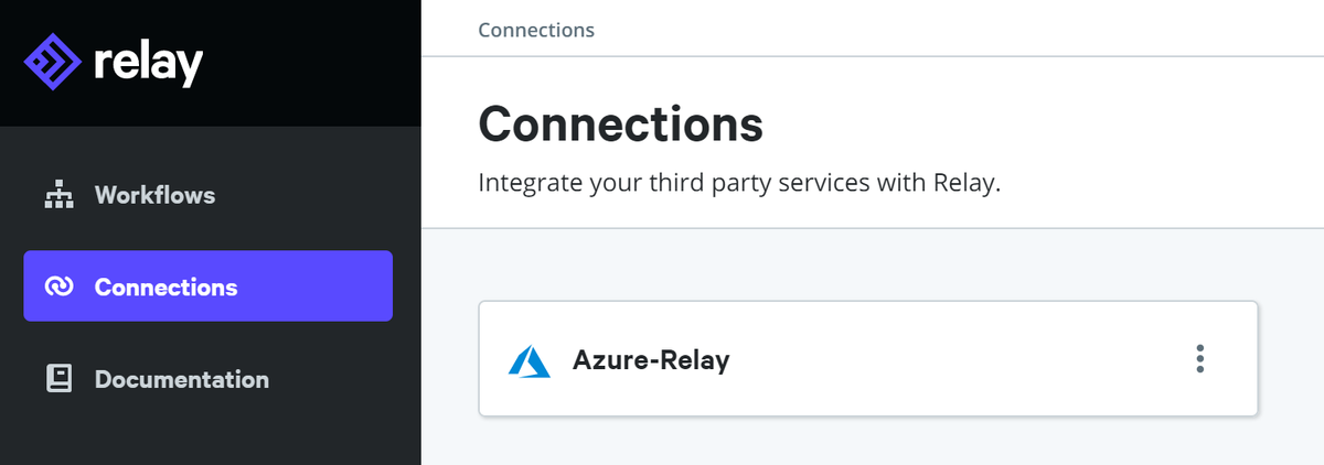 Azure connection created