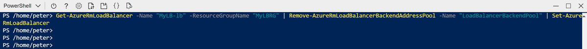 Running the Azure PowerShell script